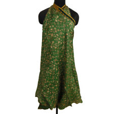 Reversible Pure Silk Vintage Saree Wrap Magic Hippie Skirt-3 Pcs-WPL2A
