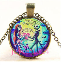 Nightmare Before Christmas Cabochon bronze Glass Chain Pendant Necklace TS-5949