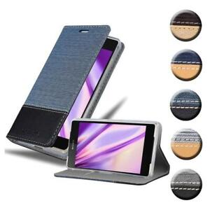 Case for Sony Xperia Z2 Phone Cover Denim Style Protective Wallet Book