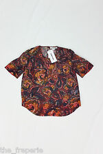 *ELIZABETH & JAMES* PIPER PRINTED SILK TOP (UK 8)