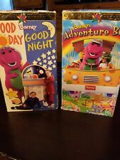LOT OF 2 BARNEY CLASSIC COLLECTION VHS GOOD DAY GOOD NIGHT , BARNEY'S  ADVENTURE