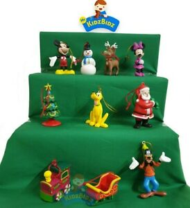 Christmas Tree Decorations - CHRISTMAS MICKEY MOUSE Set of 10 Hanging Figures