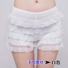 Women Lolita Bloomer Shorts Underpants Lace Layered Underwear Safety Short Pants