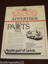 ROLLS ROYCE ENTHUSIASTS CLUB ADVERTISER #50 - MAY 1983