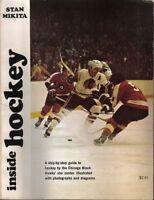 1971 Inside Hockey,magazine,A Step-by-Step Guide Stan Mikita,Chicago Blackhawks