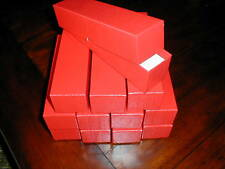 12 (Twelve)Red Cardboard Storage Box Boxes 2x2x9 for 2x2 Coin Holders Flips