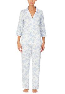 Lauren Ralph Lauren Women's Petite Printed Pajama Set - Ivory Floral -XS