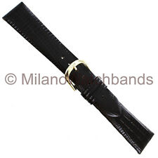 20mm Speidel Brown Gator Lizard Grain Anti-Allergic Waterproof Leather Band Reg