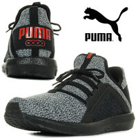PUMA Men's Trainers MEGA NRGY Knit Sports Running Sneakers Jogging Grey Black