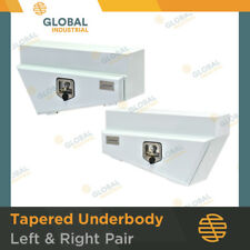 1 x Pair of White Tapered Underbody Under Tray Steel Ute 4x4 Tool Boxes TB0055