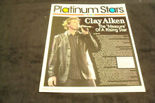 """Clay Aiken 2004 article """"Measure of a Rising Star"""" of American Idol fame"""