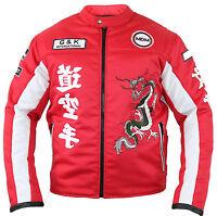 Herren Motorrad Textil Jacke mit Protektoren für den Sommer Belüftet Winddicht