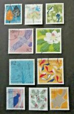 JAPAN USED 2017 GIFTS FROM THE FOREST 10 VALUE VF COMPLETE SET SC# 4170 a - j