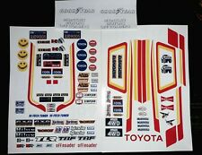 Hilux Red 1/10 RC Stickers Decal Sheet Precut Customized