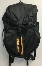 Marmot Kompressor Plus Backpack Black Orange Lettering Model 32277 Great Cond