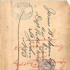 WW22 1889 Publics Works Canada Engineers Office Cover {samwells-covers}PTS