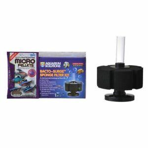 Hikari Aquarium Solutions Sponge Bacto-Surge Foam Filter Small up to 40 Gallons