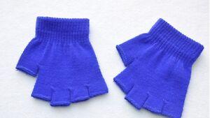 Women Men Winter Warm Knitted Fingerless Half Finger Magic Gloves Knit Mitten