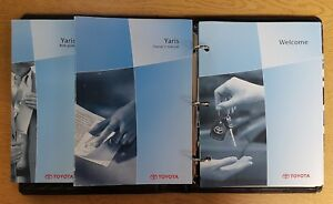 GENUINE TOYOTA YARIS OWNERS MANUAL HANDBOOK WALLET 2002-2006 PACK E-725 !