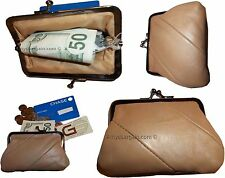 Lot of 4 New Women's Leather Change Purse Coin bag Wallet bag Hand Coin case BN