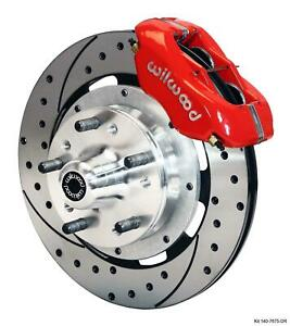 """Wilwood 64-72 Chevelle A-Body Front Disc Big Brake Kit 12"""" Drilled Rotor Red"""
