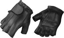 Milwaukee Leather Men's Deerskin Full Panel Fingerless Gloves W/ Gel Palm -SH850