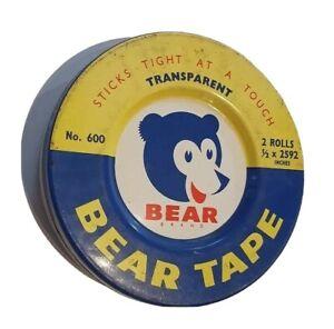 Bear Tape Tin: Vintage Australian collectable tin. Made by Norton, Australia.
