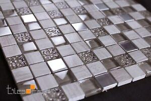 Travertine Glass Mosaic Tile Sheet 300x300