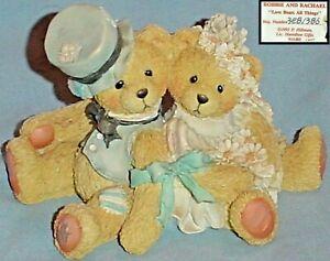 ROBBIE & RACHAEL Bride Groom LOVE BEARS ALL THINGS FIGURINE Cherished Teddies