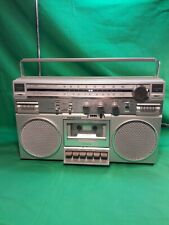 Vintage Soundesign Old School Boom Box Tape Recorder Electronics