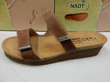NAOT WOMENS SANDALS JACEY LATTE BROWN SADDLE STERLING SIZE EU 38
