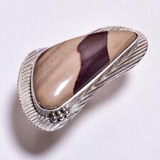 925 Sterling Silver Ring Size US 8, Large Australian Zebra Jasper Jewelry CR3931