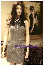 Junior BOHO Black Gray Tie Dye Sports Sleeveless Zip Cotton Denim mini Dress NEW