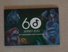 More details for 2019 jersey zoo 60th anniversary colour coin set £2 rare collection