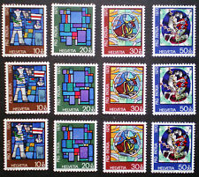 SWITZERLAND SUISSE 1970 MNH** Pro Patria 3 complete sets
