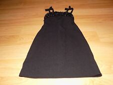 Girl's Size 7 Jenny & Me Solid Black Ruffled Top Sleeveless Dressy Dress EUC