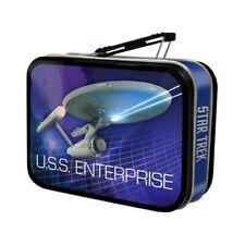 Star Trek Classic USS Enterprise Mini Carry All Tin Tote Lunchbox NEW UNUSED