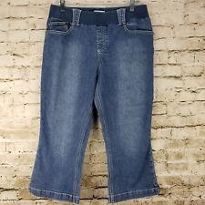 Announcements Maternity Womens Capris Size M 8 10 Blue Jeans Denim Stretch Band