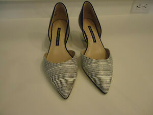 """EUC French Conncetion Black/Whitge D'Orsay """"Effie"""" Size 39/8.5"""