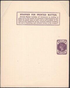 CEYLON, 1894. Wrapper H&G E2,  Mint
