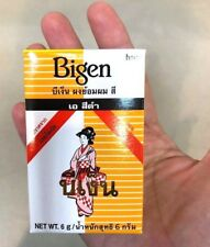 Bigen Men Black Color A Permanent Powder Hair Dye Free Ammonia 6 g Women Henna