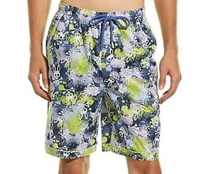 Psycho Bunny Men's Julep All Over Bunny Splatter  Woven Cotton Lounge Shorts