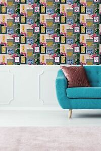 Fresco Island Living Multi Colour Tropical Wallpaper