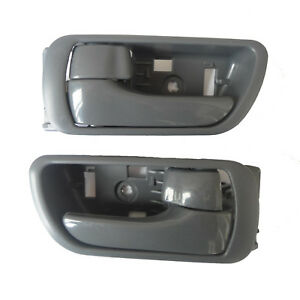 For 02-06 Toyota Camry Inside Front Rear Left Right Side Smooth Door Handle Gray