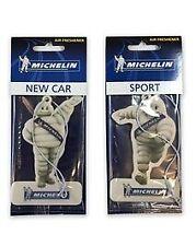 2 Michelin Man Car Van Truck Caravan Air Fresheners, New Car & Sport Fragrancs