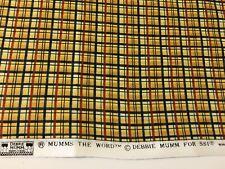 35 3/4' Debbie Mumm Plaid Fabric  (approx 1 Yard)