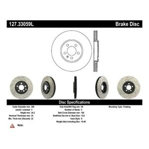 StopTech 127.33059L Sport Drilled & Slotted Brake Rotor For 11-18 Audi A1 NEW