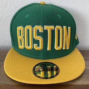NWT New Era Boston Celtics City Edition 2018 NBA 59Fifty Fitted Hat Size 7 1/4