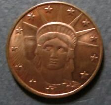LADY LIBERTY OF NEW YORK COIN, 2011 Mint, 1/4 Oz. 99% Pure Copper, Uncirculated