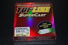 TUF-Line SuperCast - Yellow 15 lb Test - 125 yards Braid Fishing Line SC15-125YE